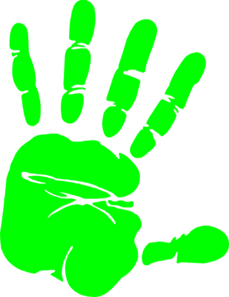 Handprint Outline Clipart.