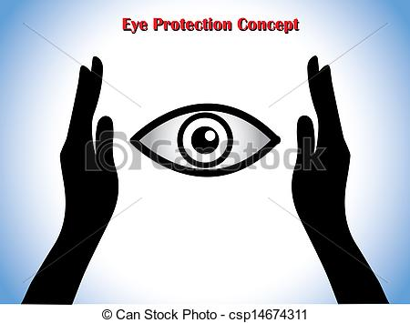 Clipart of Eye Protection or Eye Doctor Concept Illustration using.