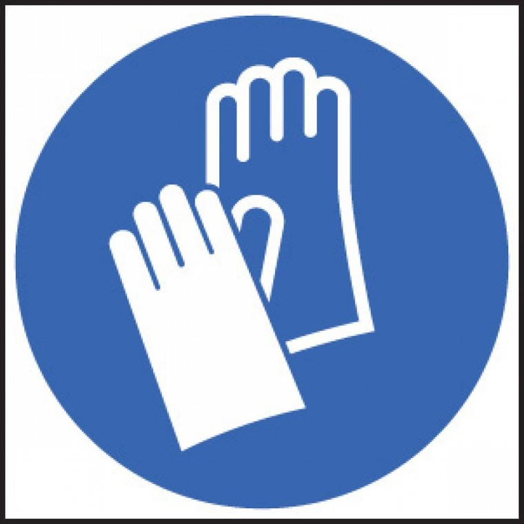 Showing post & media for Plastic gloves symbol.