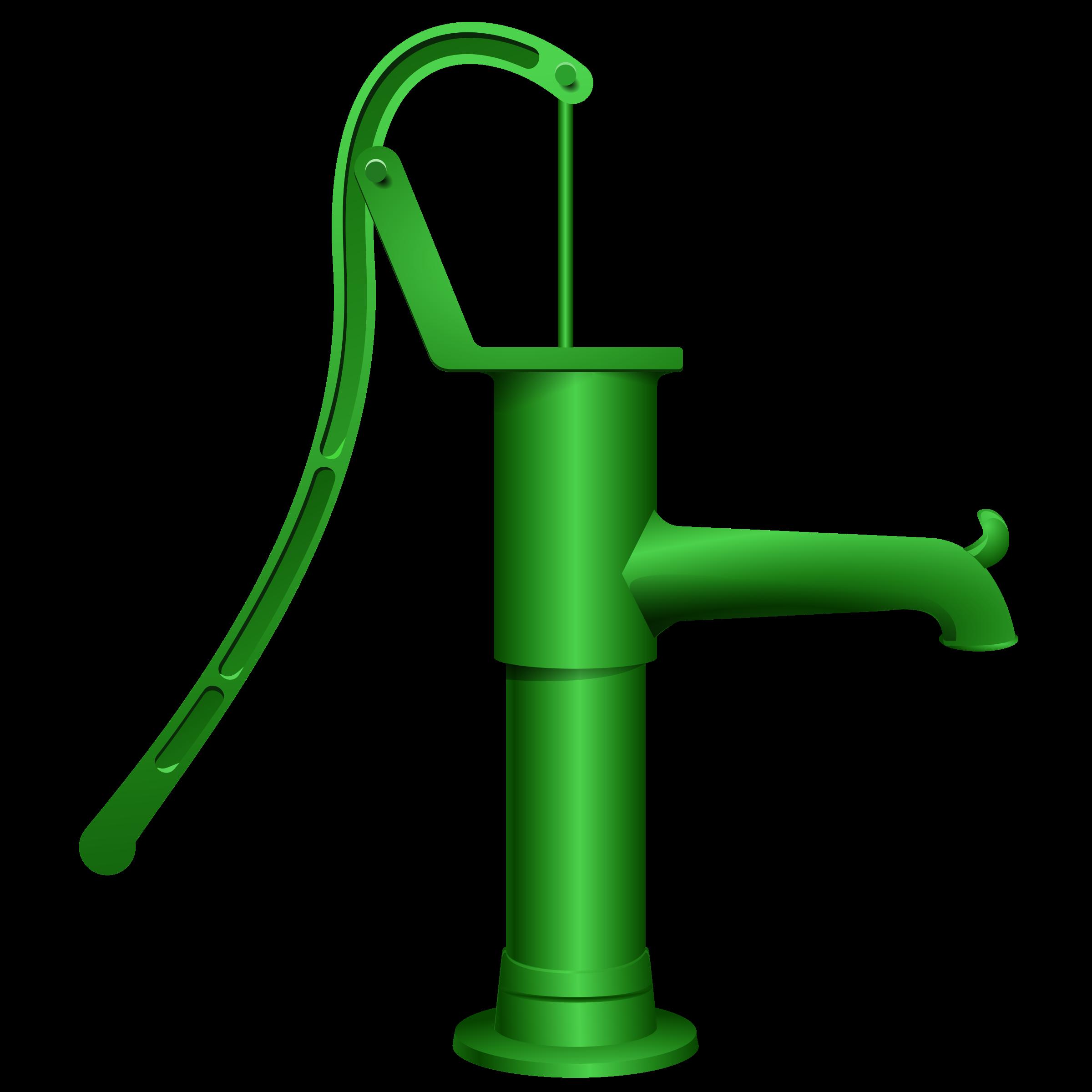 Hand pump clipart.