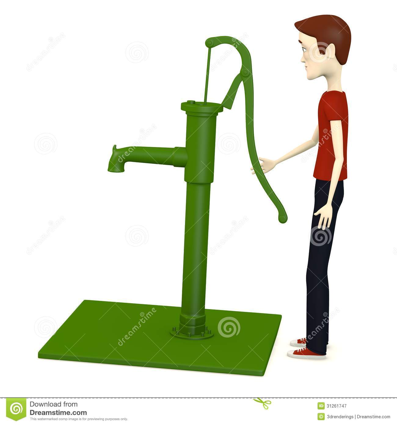 Water well pump clipart.