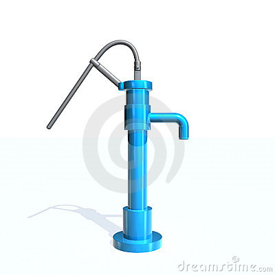 Hand Water Pump Stock Illustrations.