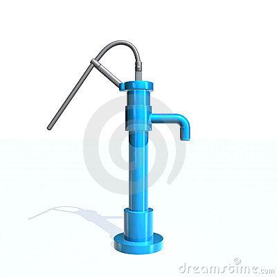 Hand Water Pump Stock Illustrations.
