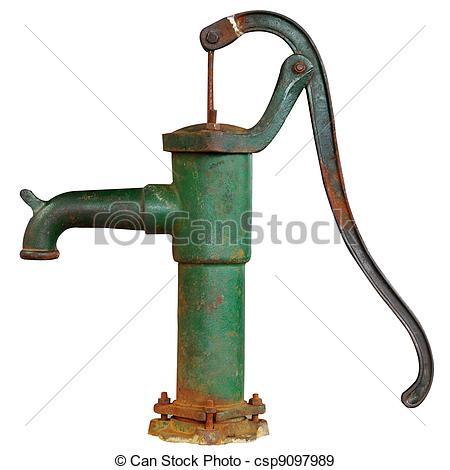 Village hand pump clipart.