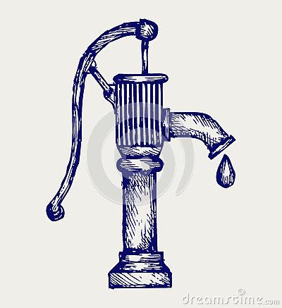 Hand Pump Stock Illustrations.