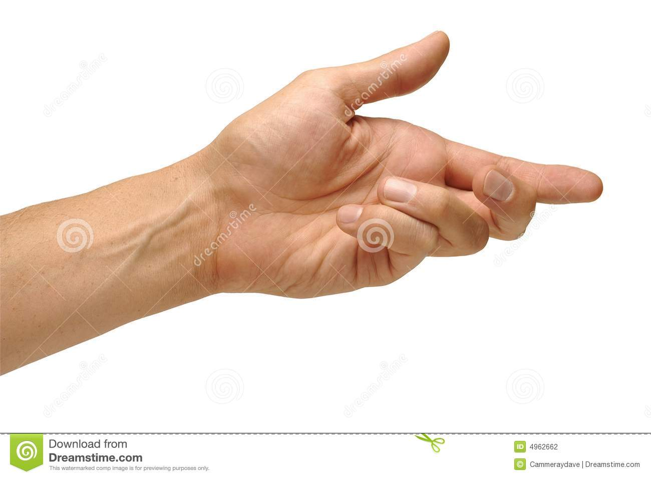 Hand Reaching Down Stock Photography.