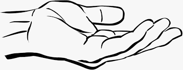Image result for drawing of a hand reaching down.