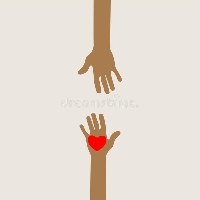 Hands Reaching Out Stock Illustrations.