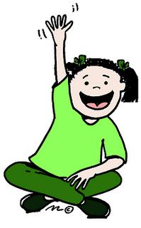 Raising Hand Clipart.