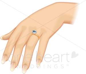 Bride's Ring Clipart.