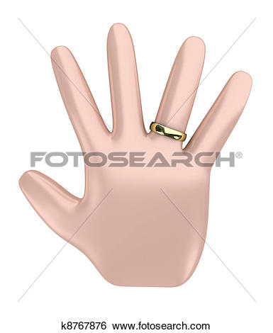 Stock Illustration of Hand with a ring k8767876.