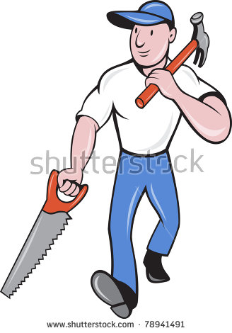 """""""male_worker_with_hammer"""" Stock Photos, Royalty."""