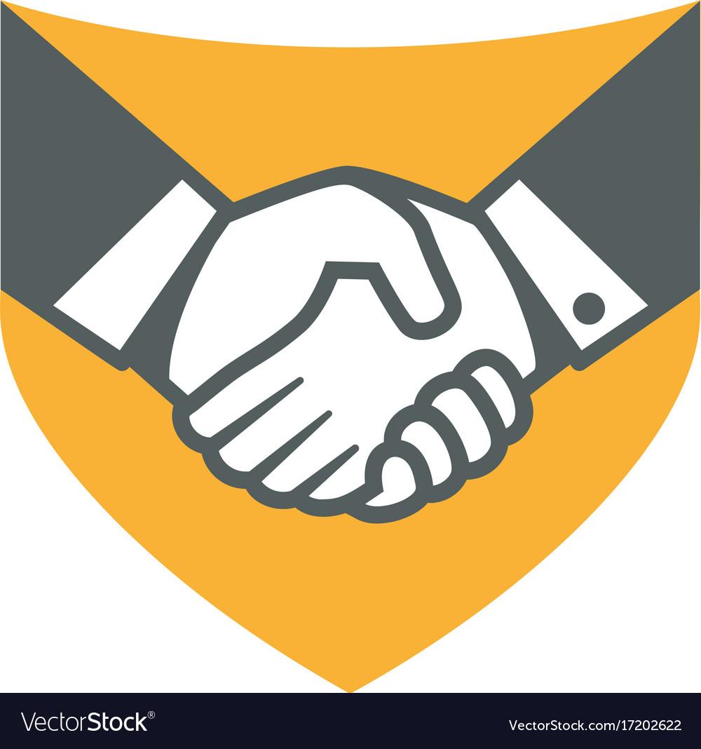 Handshake logo for business.