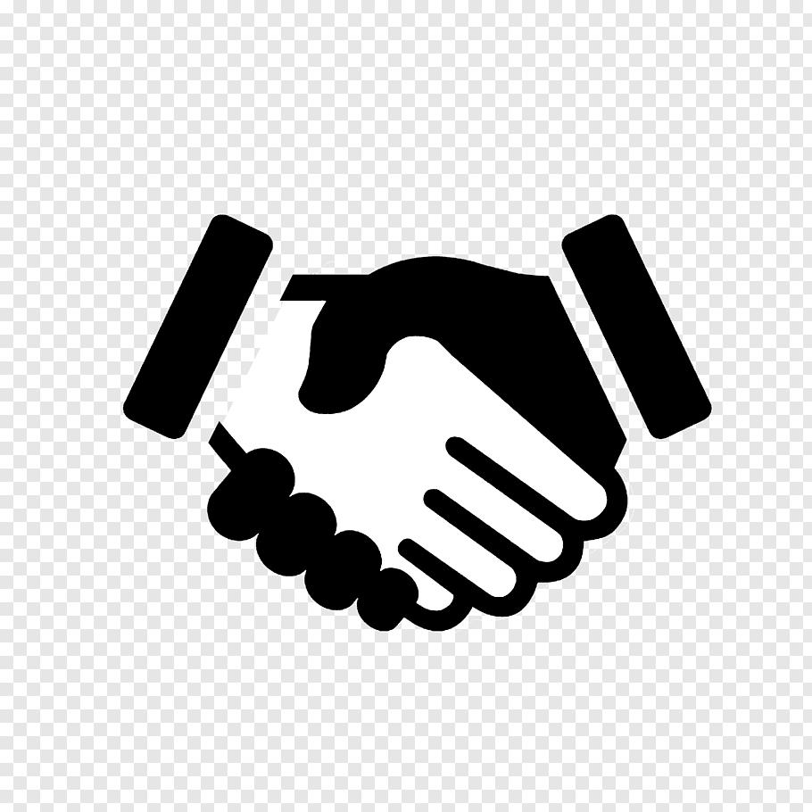 Black and white hand logo, Computer Icons Handshake Symbol.