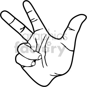 hand signs black white clipart. Royalty.