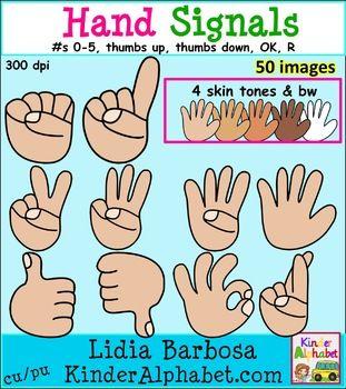 Hand signal clipart.