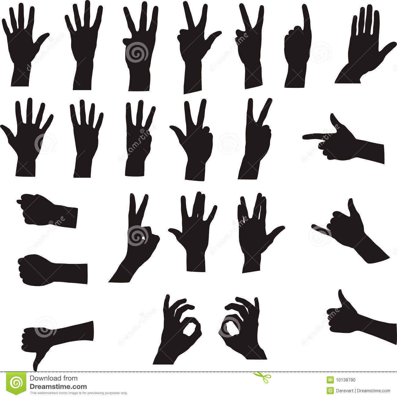 Clipart hand signals.