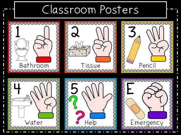 Classroom signal clipart.