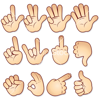 Free clipart hand signals.