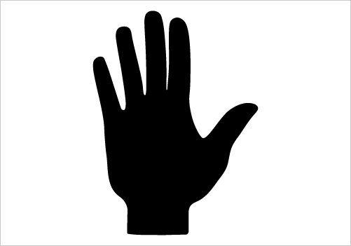 HAND SILHOUETTE Silhouette Graphics.