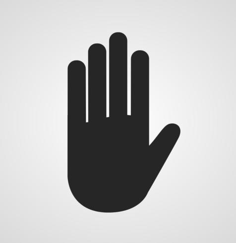 Black Hand Silhouette.