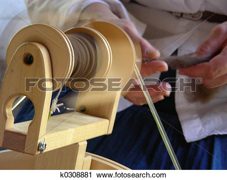 Stock Photography of Hand Spun k0308881.