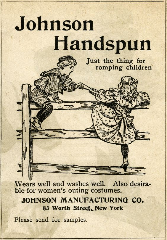Johnson Handspun Clothing ~ Free Vintage Magazine Advertising Clip.