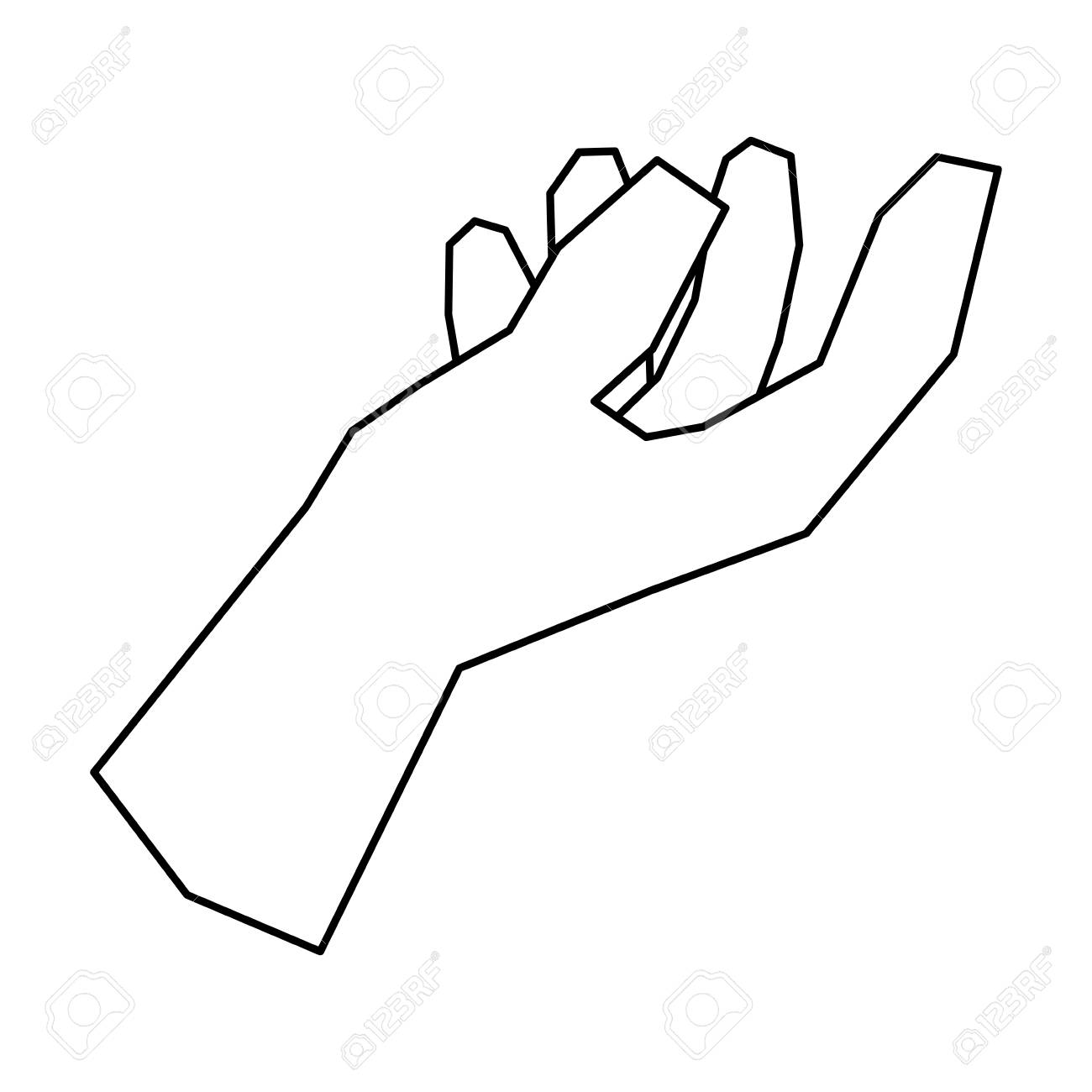 Outstretched hand symbol » Clipart Station.