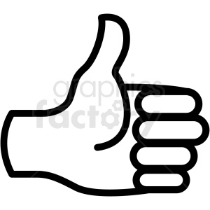 thumbs up hand vector icon . Royalty.
