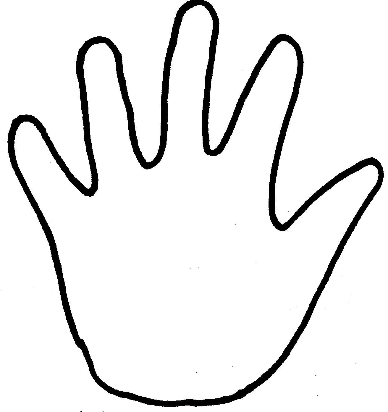 Handprint Template.