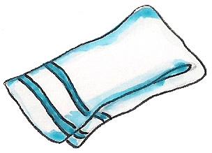 Hand Towel Clipart.