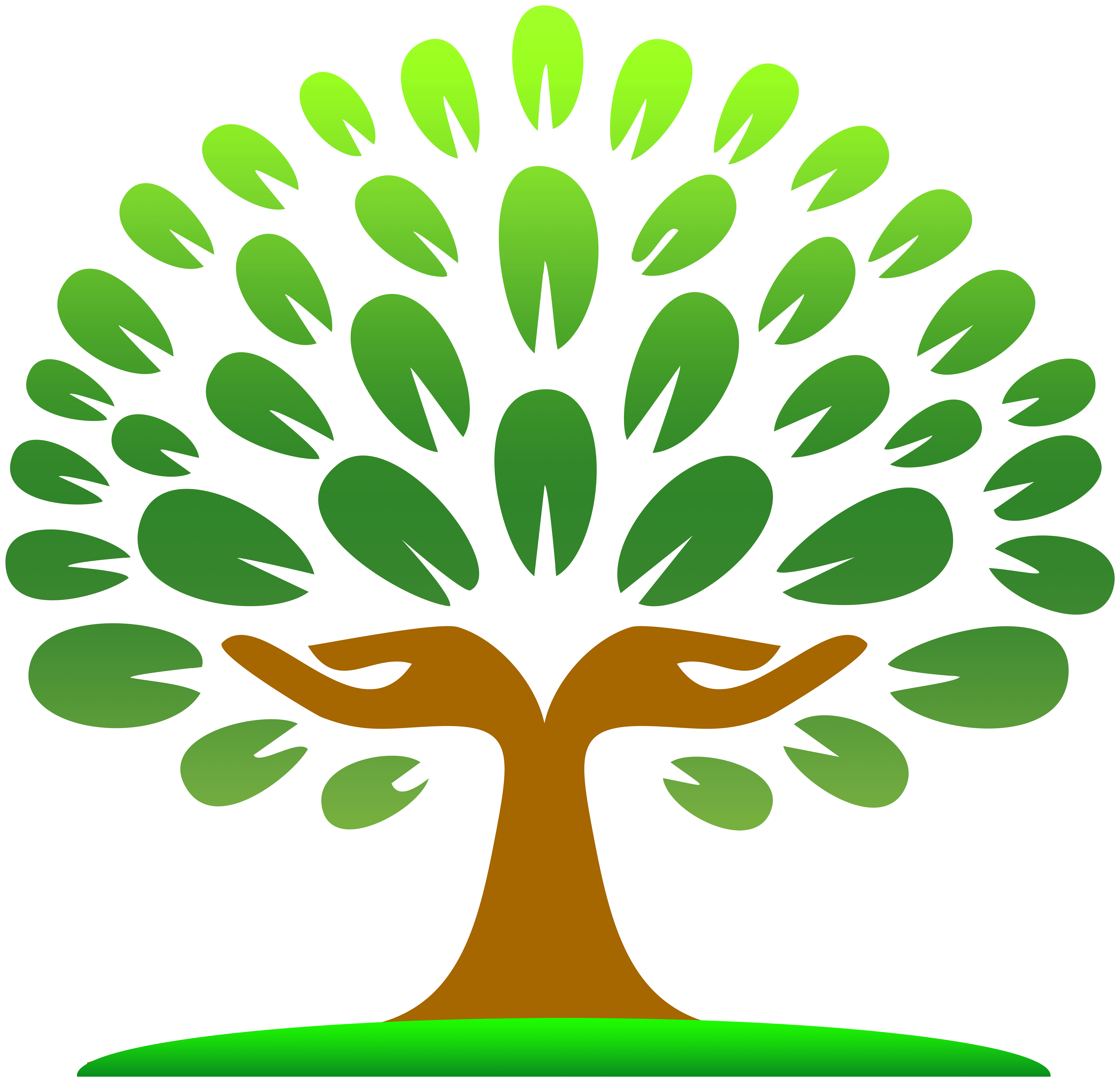 Hands Tree PNG Clipart.