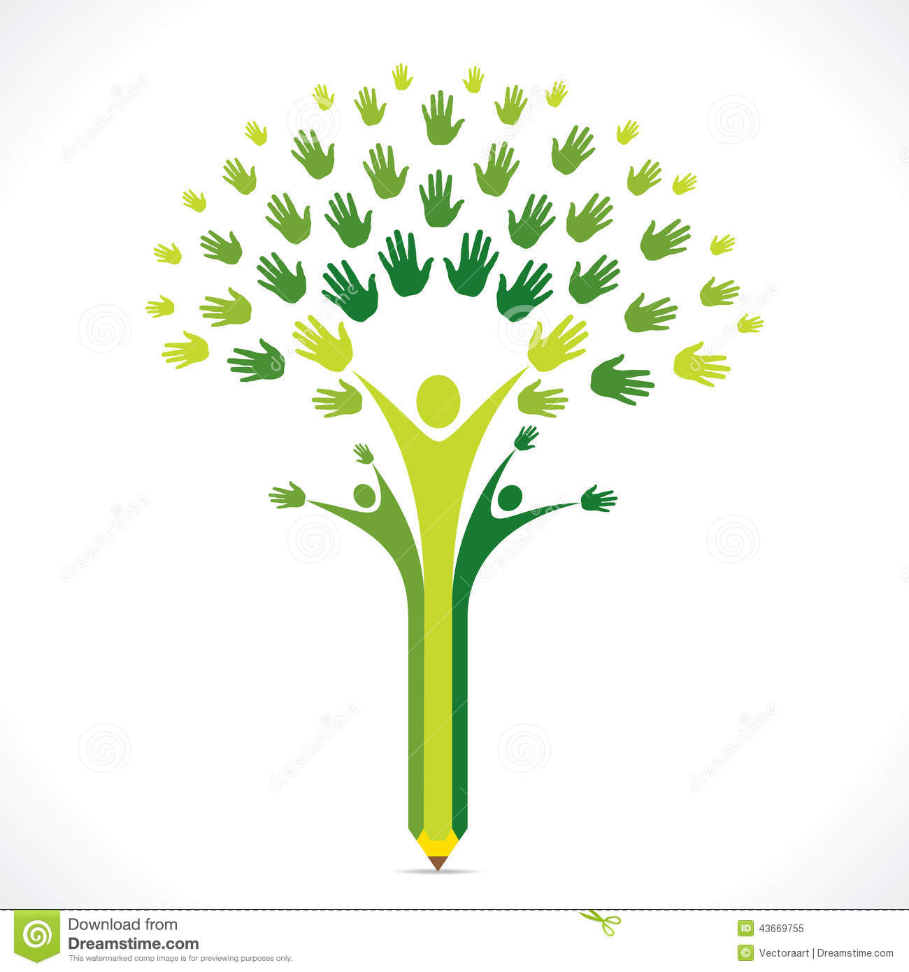 Helping Hands Tree Clipart.