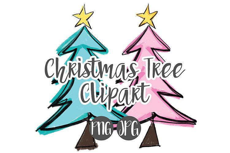 Hand Drawn Christmas Tree Clipart.