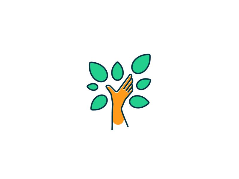 Hand Tree Logo by Sorin Belean on Dribbble.