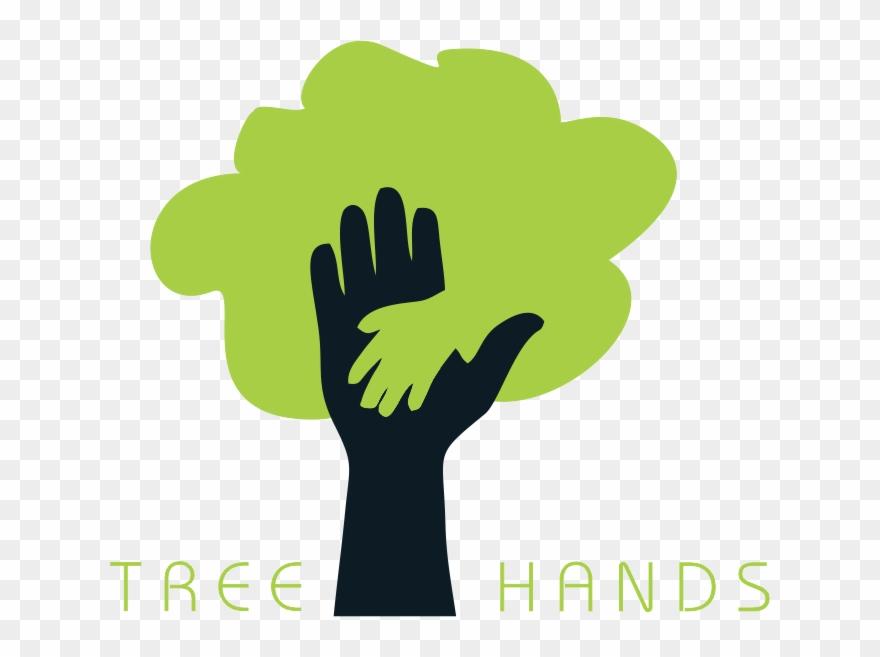 Clip Art Hand Tree Logo.