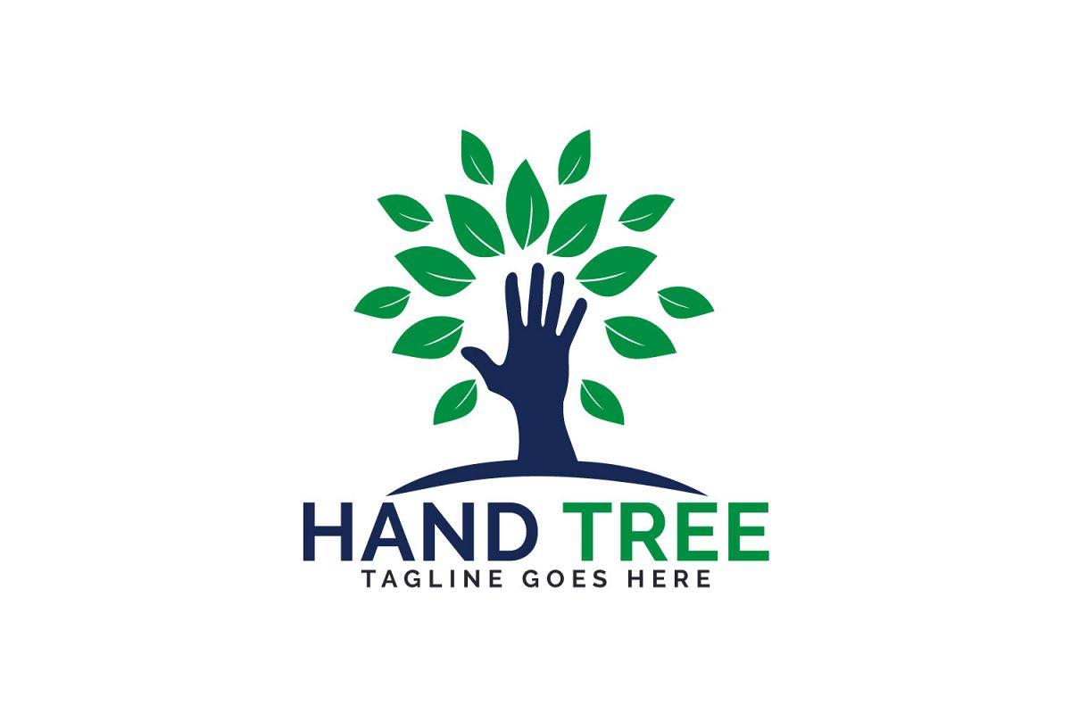 Hand Tree Logo Design..