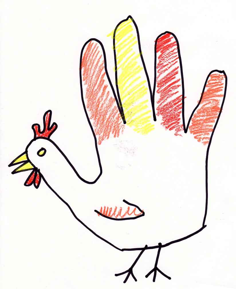 Hand Turkey Clipart.