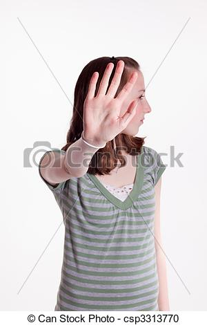 Stock Photography of Talk To The Hand.