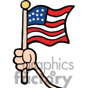 Hand Us Flag Clipart.