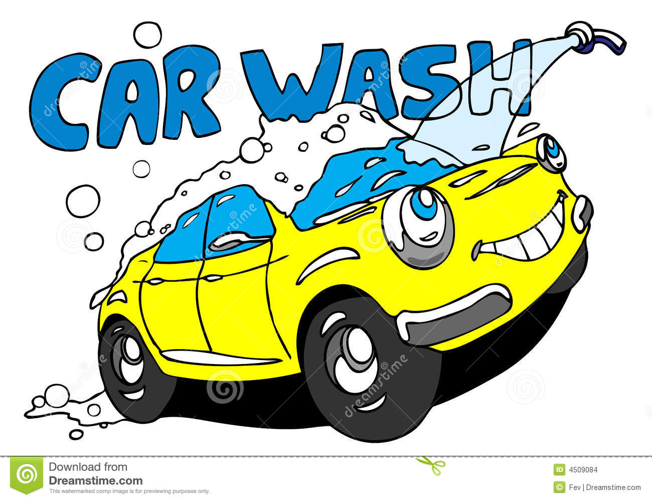 Car washing clipart.