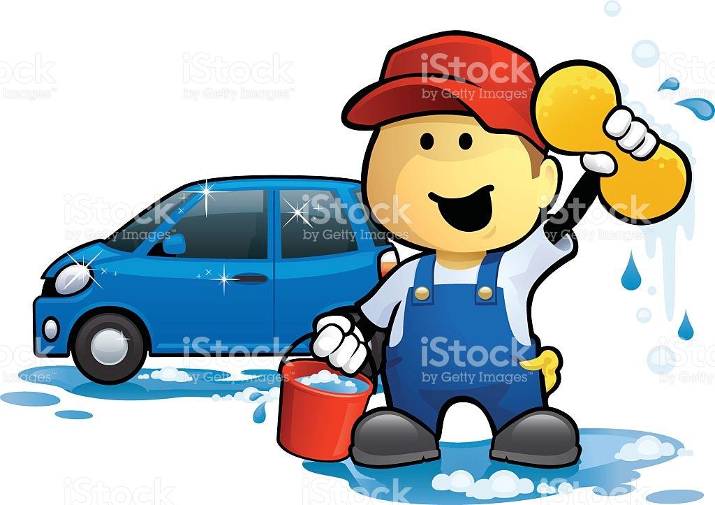 Car Wash Man stock vector art 496035871.