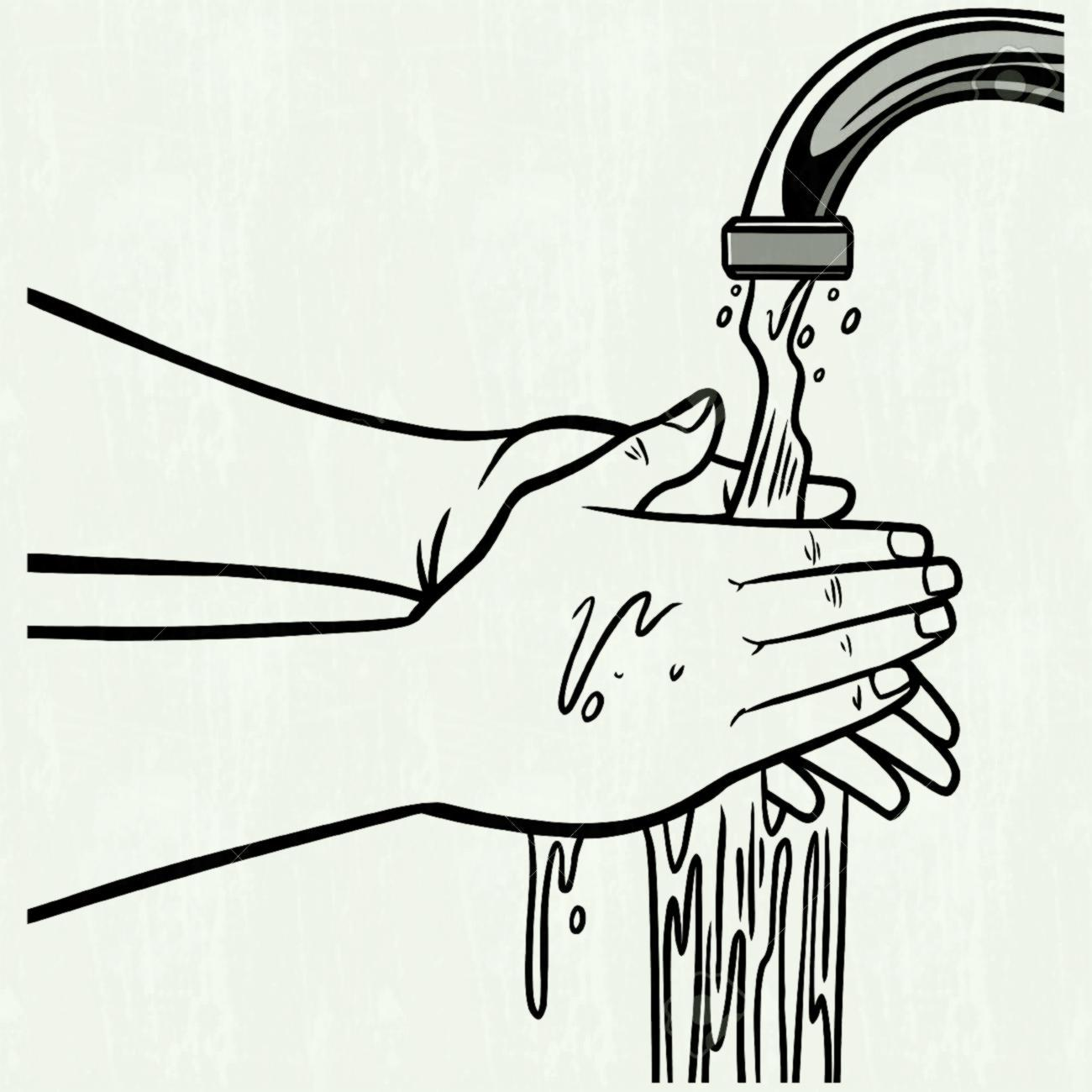 Hand washing clipart black and white 5 » Clipart Portal.