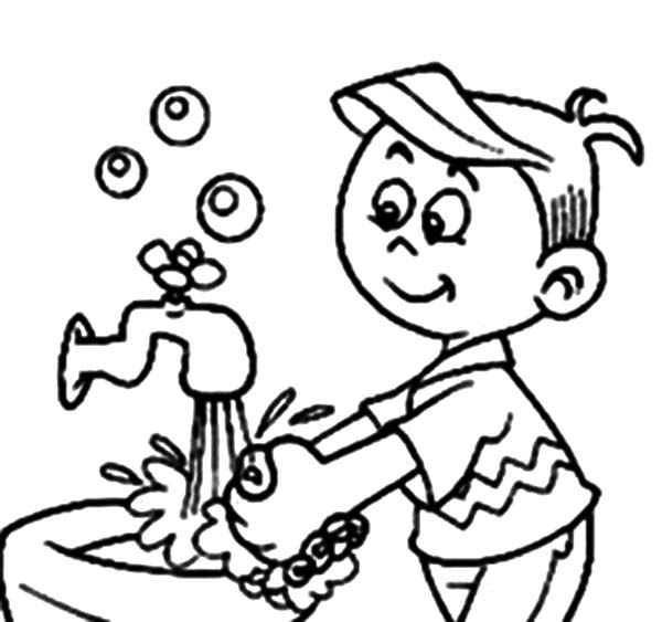 Washing Hands Clipart Black And White.