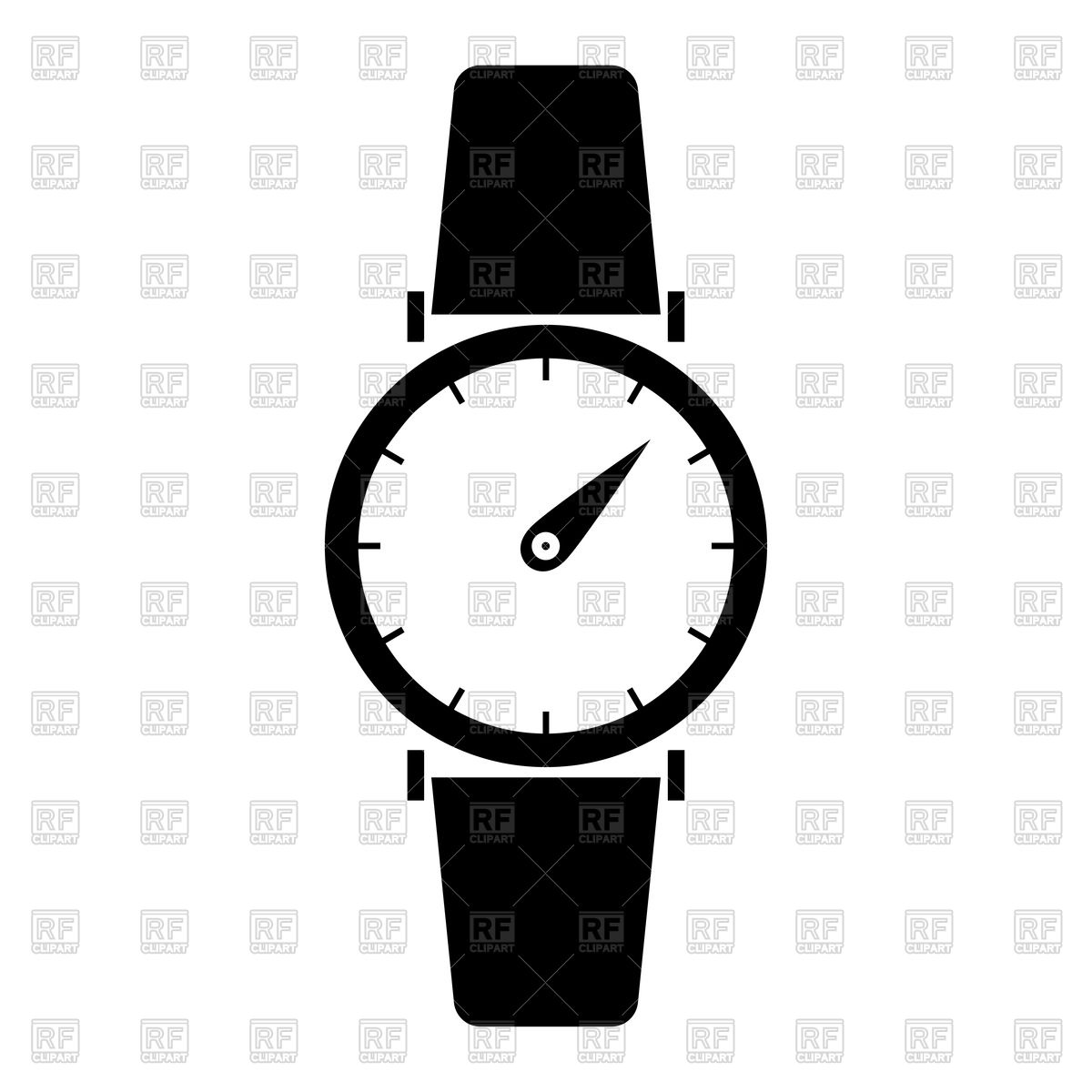 Hand watch black color icon Stock Vector Image.