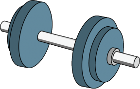 Hand Weights Clipart.