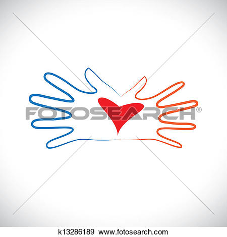 Clip Art of Concept of man & woman couple hands showing intimacy.