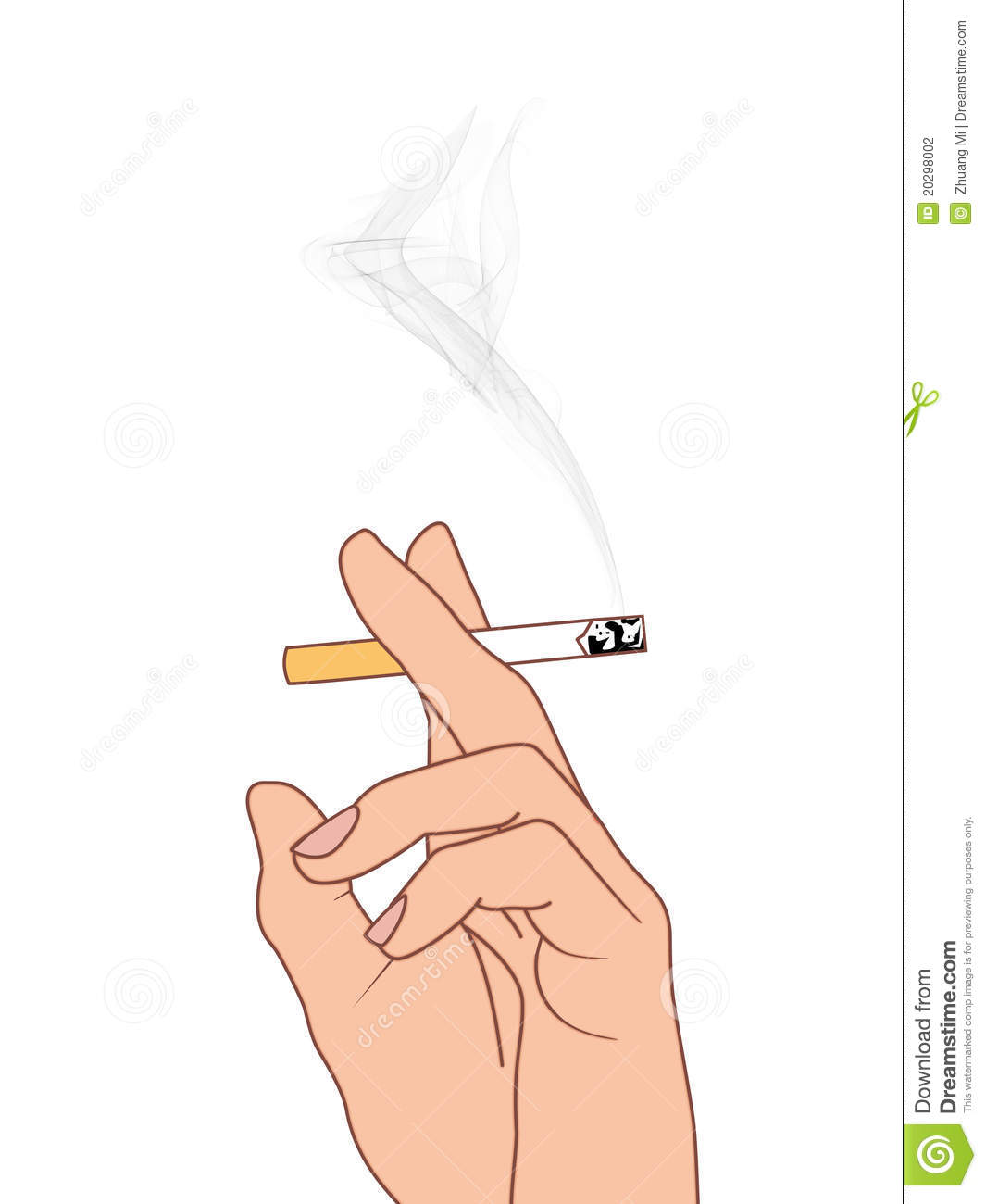 Hand Holding A Cigarette Stock Photography.