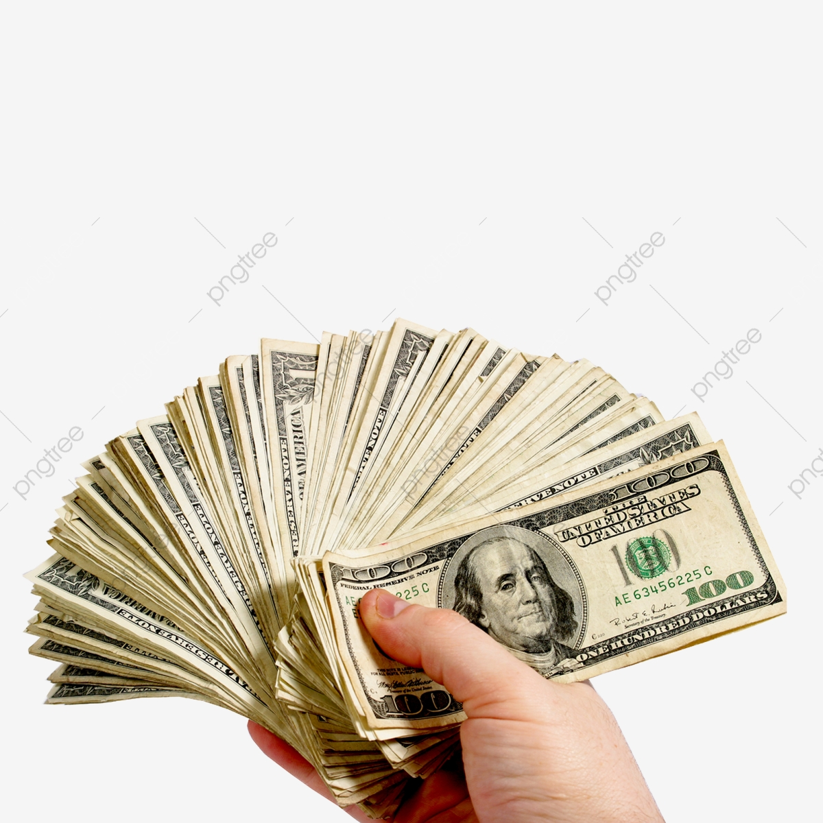 Hand Of Money, Money, Cash, Currency PNG Transparent Clipart Image.