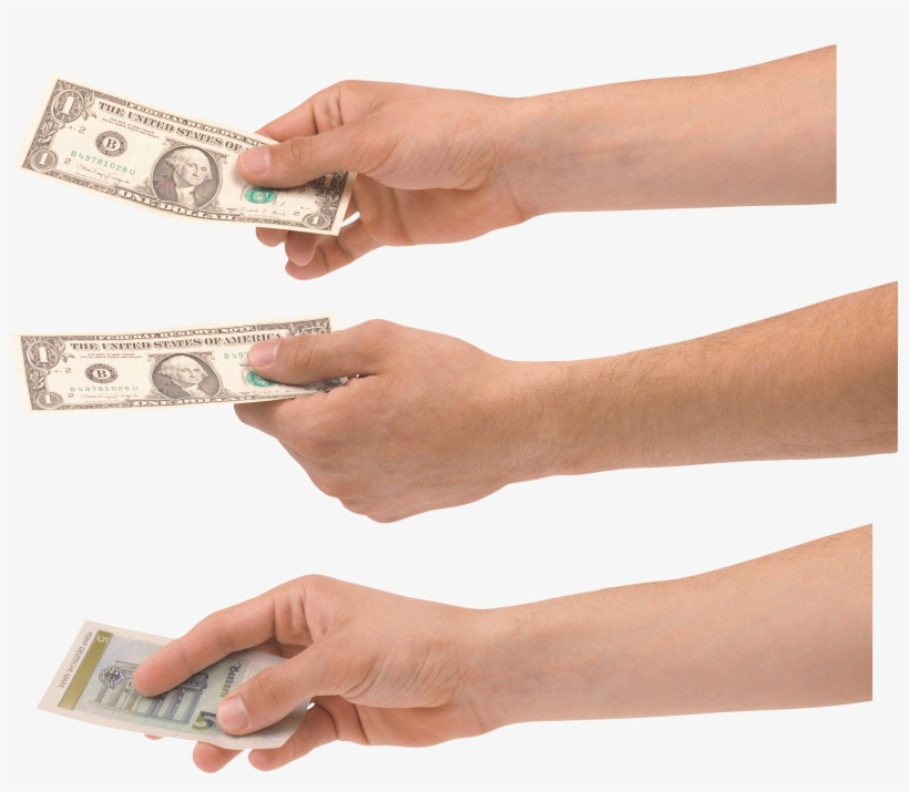 Hand Holding Money Png (+).